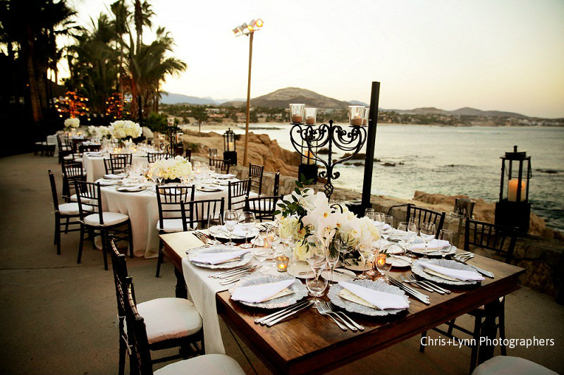 natural wood dinner tables destination weddings mexico elena damy