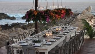 hanging centerpieces los cabos weddings esperanza resort elena damy event design