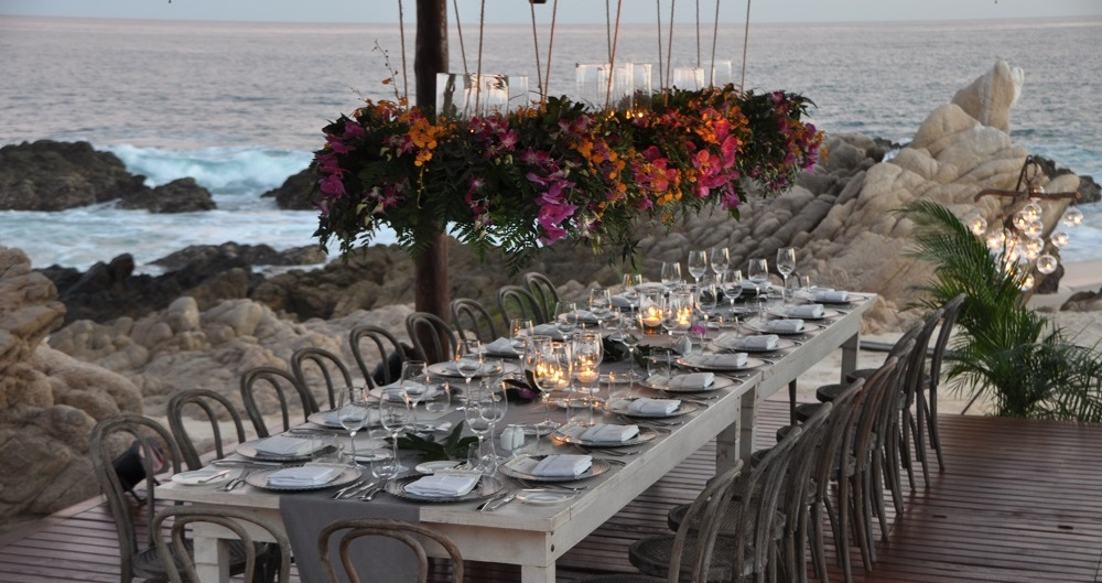 hanging centerpieces los cabos weddings esperanza resort elena damy event design