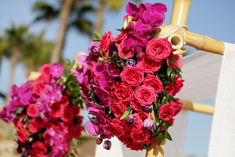 hot pink flowers for destination weddings mexico elena damy