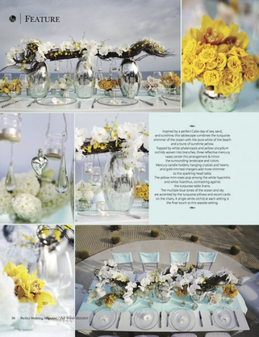 modern yellow wedding decor elena damy destination weddings