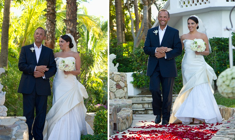 red and white weddings los cabos mexico