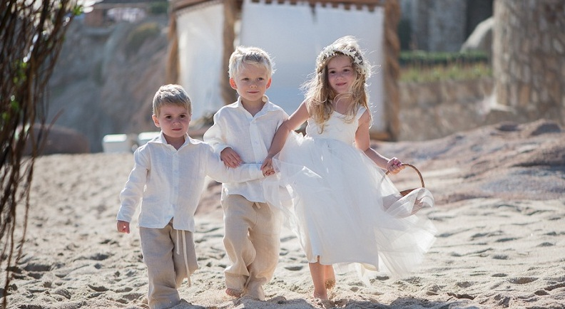 children in beach weddings