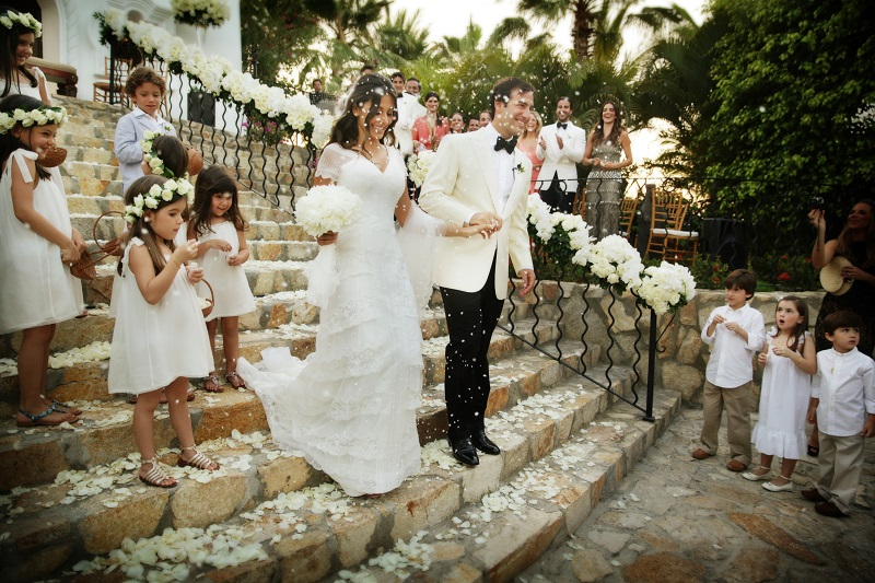 wedding recessional palmilla resort chapel ceremony cabo san lucas