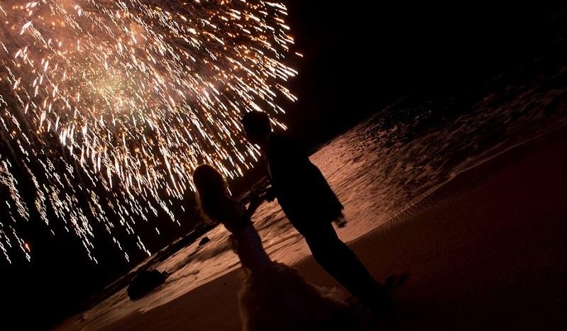 Fireworks Esperanza Weddings Cabo Event Designers Elena Damy