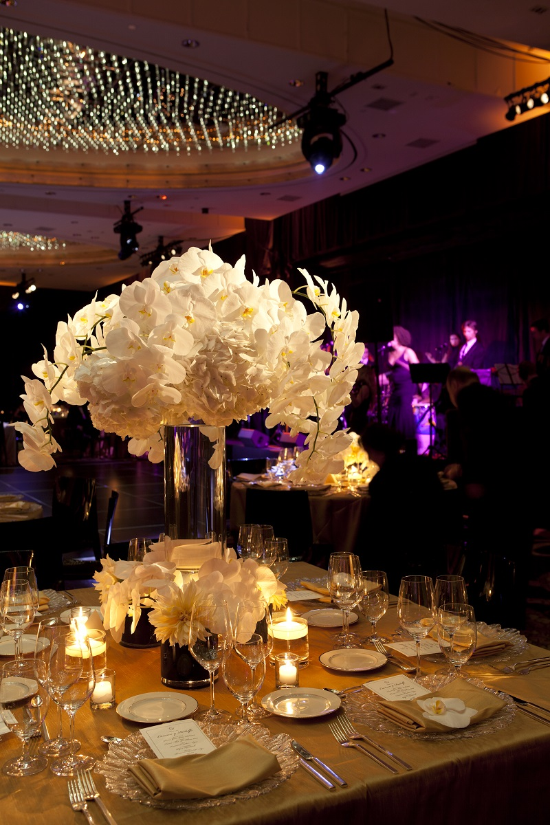 White Orchid Centerpieces New York Florists Elena Damy 800