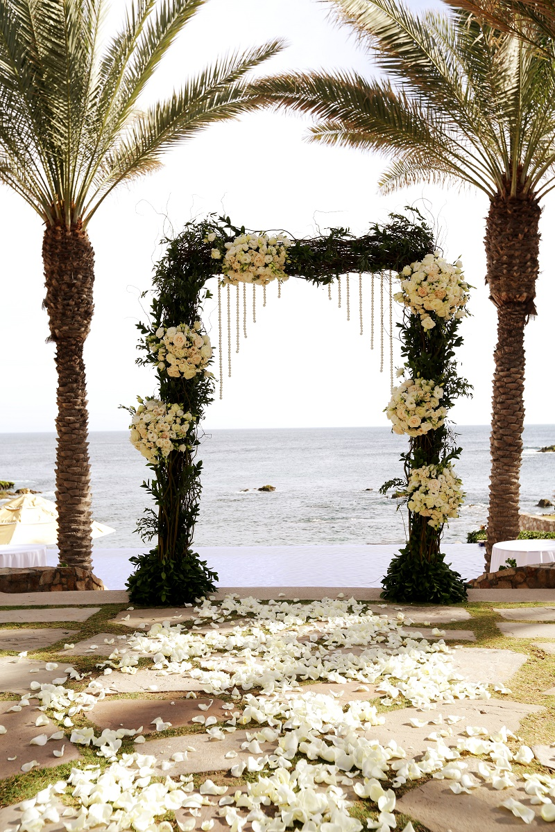 beach weddings ceremony arches elena damy floral design mexico wedding planners