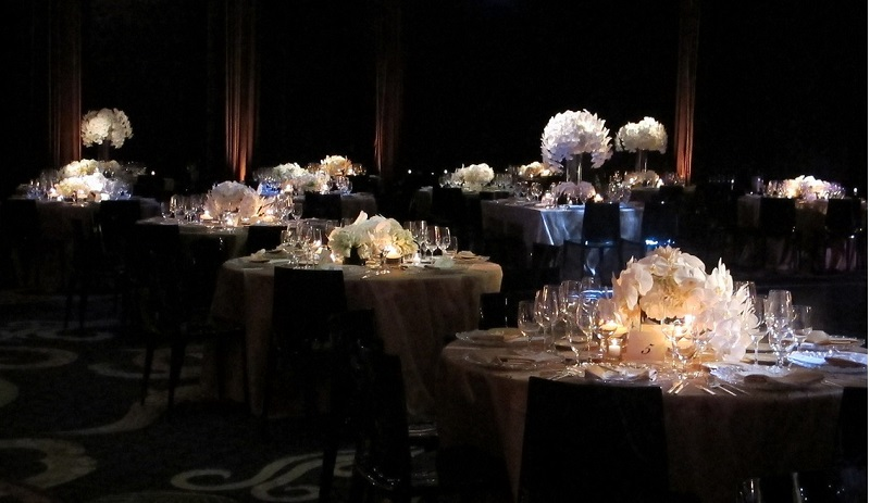 black and white hotel weddings new york city event design elena damy