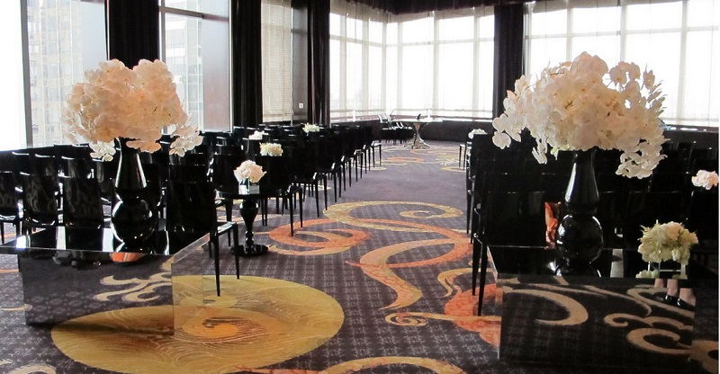 black and white wedding decor destination weddings new york elena damy event design 800