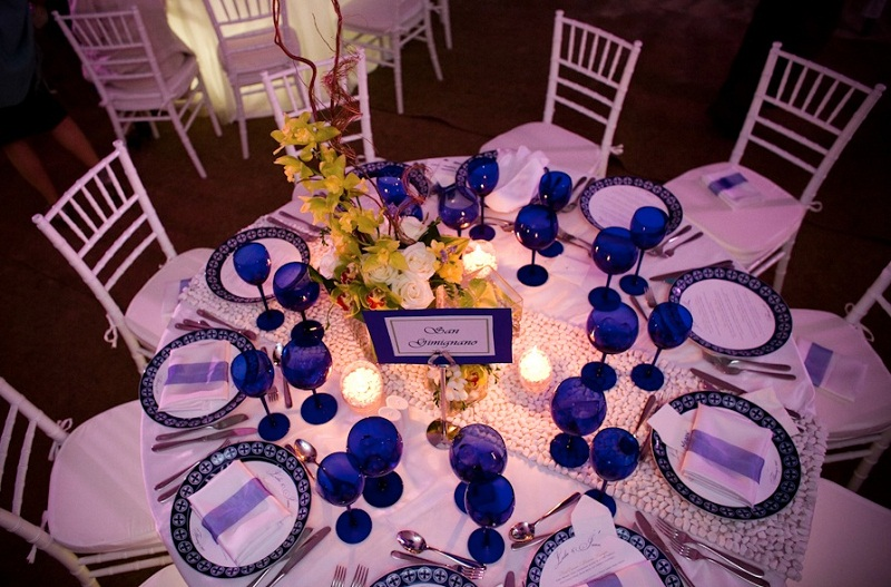blue and white weddings destination weddings mexico elena damy floral design
