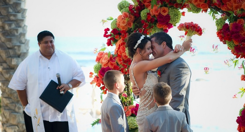 family weddings destination weddings mexico esperanza resort orange wedding flowers