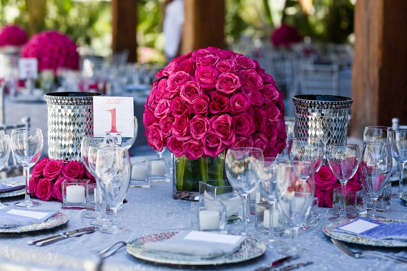 hot pink beach weddings elena damy floral design
