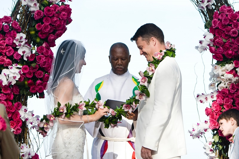 hot pink beach weddings elena damy floral design