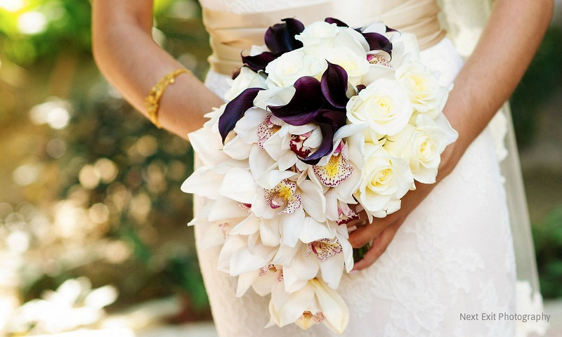 orchids and mini calla lily bridal bouquet elena damy floral design 800