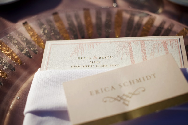 place cards and menus for beach weddings elena damy wedding planners cabo