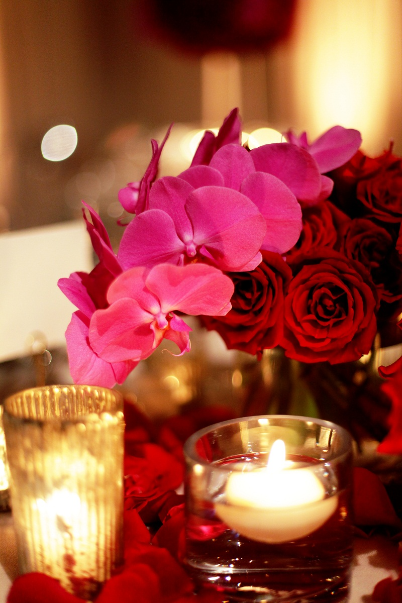 red and pink wedding centerpieces elena damy floral design