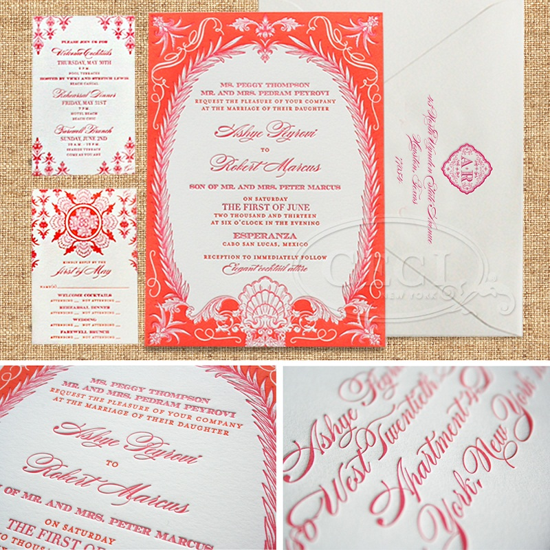 mexican wedding invitations elena damy floral design los cabos florists
