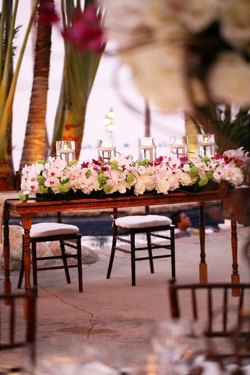 sweetheart tables tropical wedding inspiration elena damy 1000