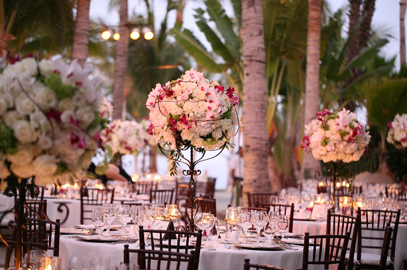 tall floral centerpieces for beach weddings elena damy floral design 800