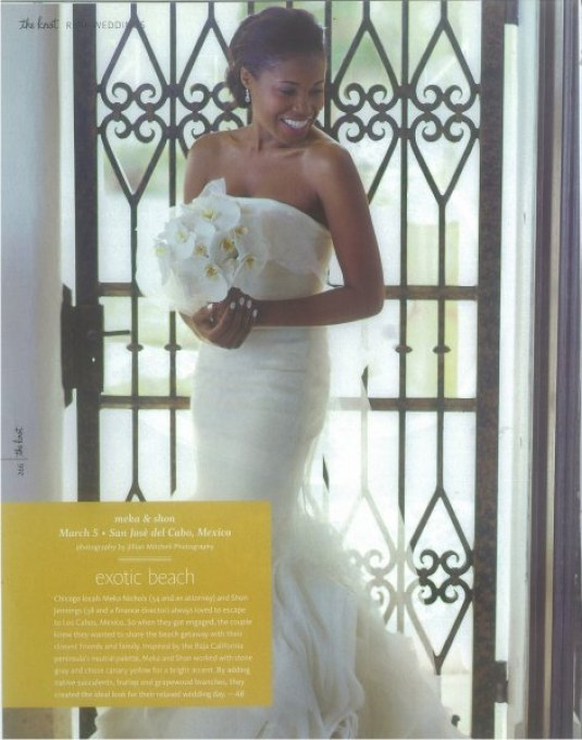 the knot wedding magazine las ventanas elena damy flowers