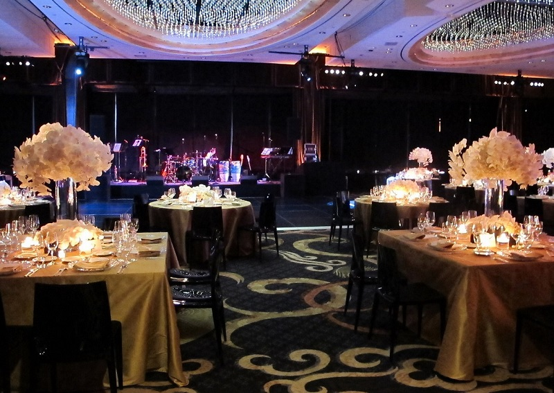 white black and gold weddings new york city elena damy event design