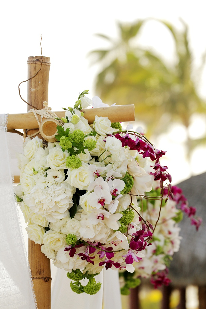 white purple and green tropical flowers for weddings elena damy