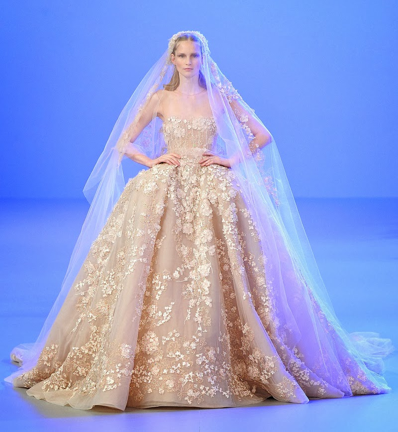 glamorous wedding gowns elie saab summer 2014