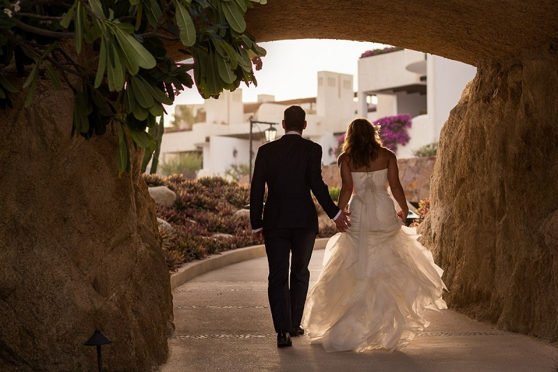 bridal couple las ventanas cabo weddings elena damy