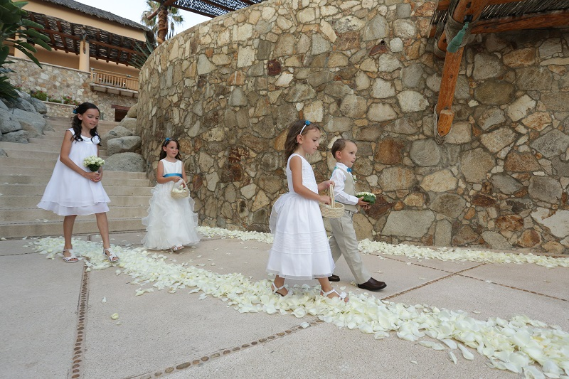 flower girls beach weddings esperanza resort destination weddings mexico
