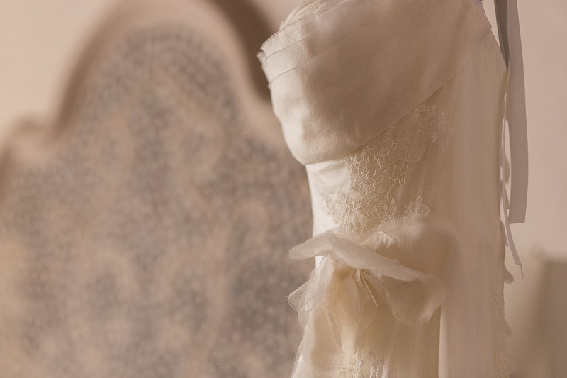 hanging wedding gown las ventanas brides cabo weddings