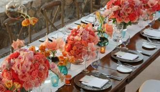 orange wedding centerpieces elena damy esperanza resort weddings mexico chris plus lynn 800