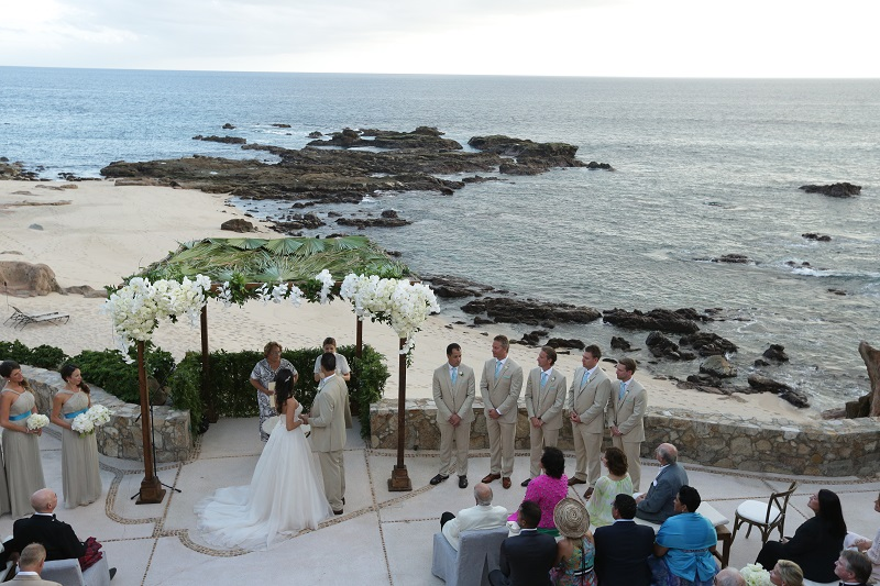 wedding ceremonies los cabos mexico esperanza resort elena damy chris plus lynn