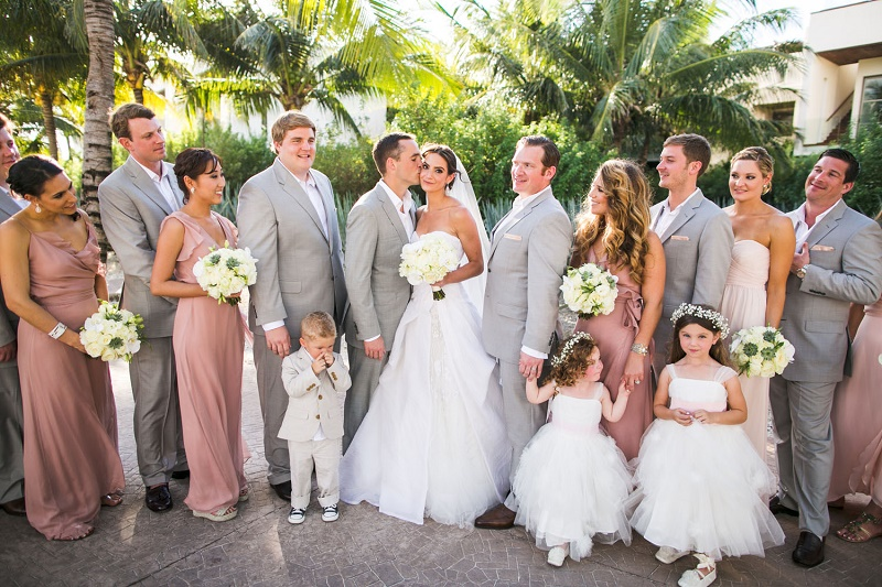 bridal party photos roswood mayakoba mexican riviera