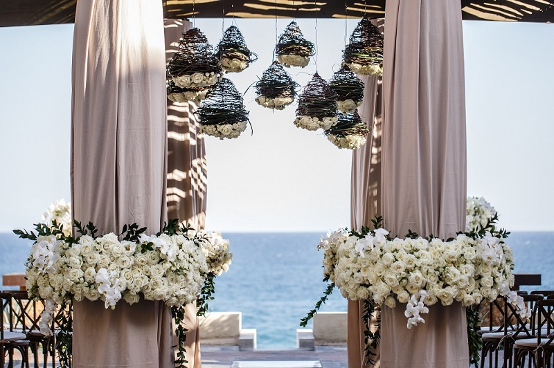 beach wedding chuppah los cabos destination weddings elena damy