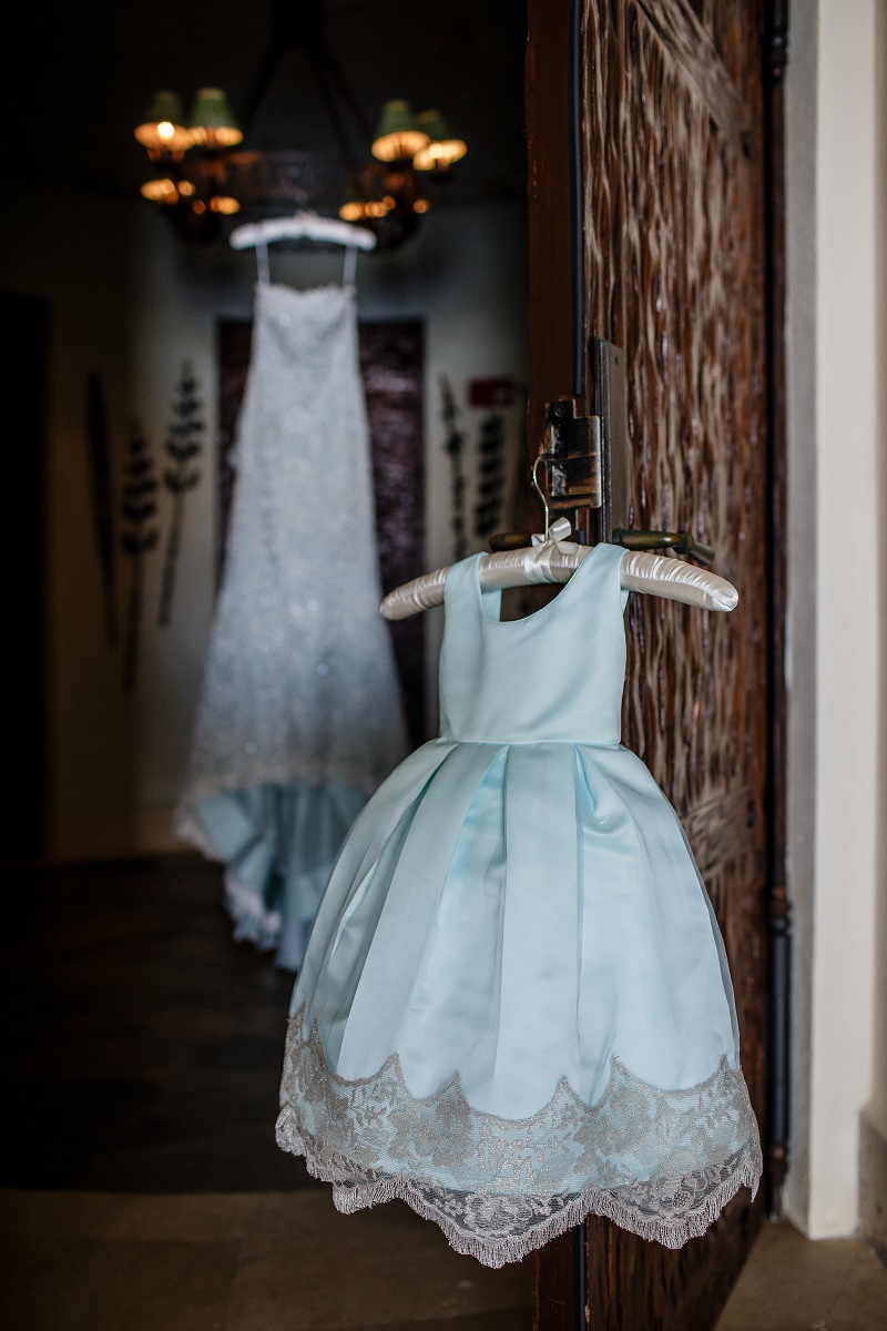 blue flower girl dress beach weddings elena damy