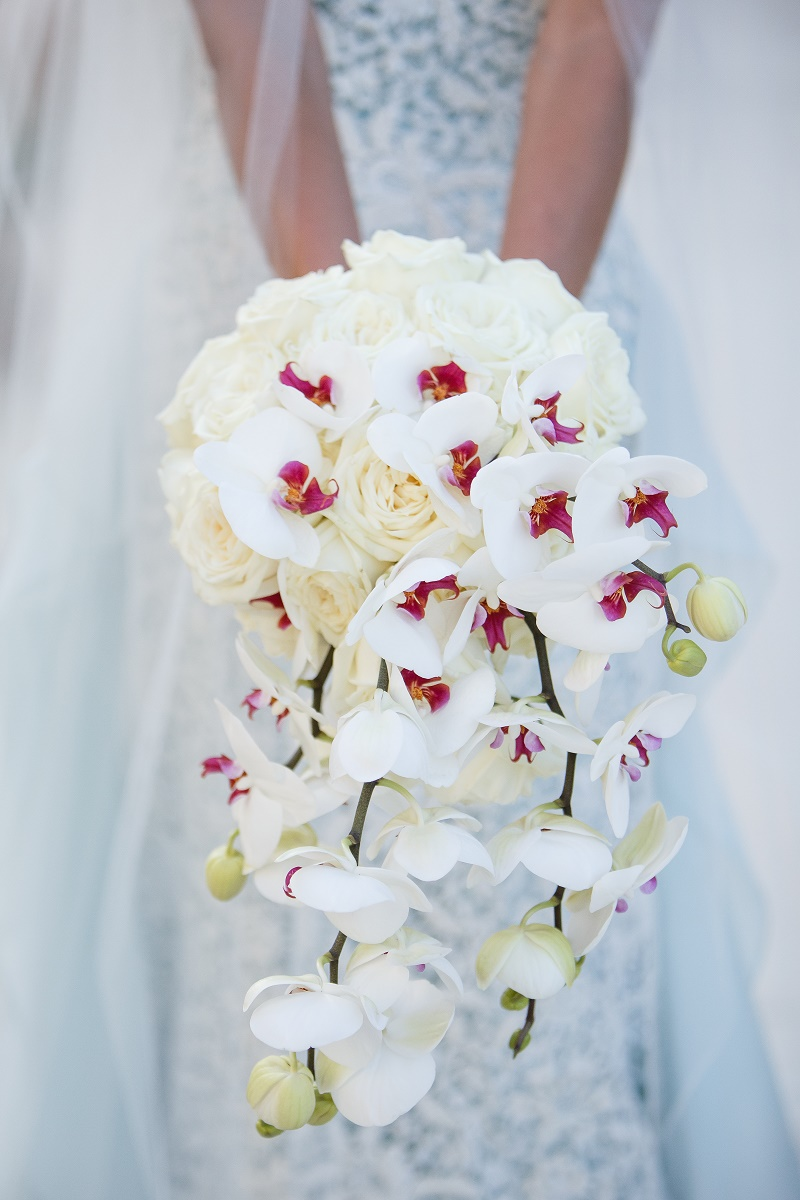 bridal bouquet with orchids elena damy floral