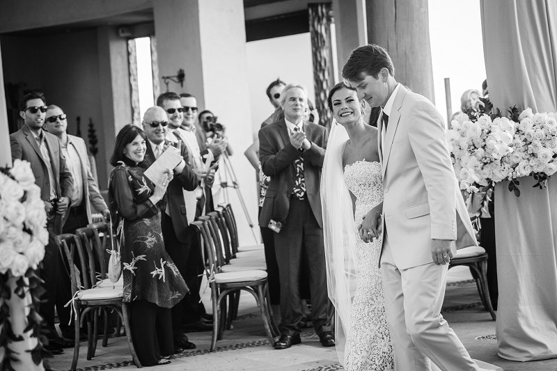 bridal recessional destination weddings mexico white ceremony flowers elena damy