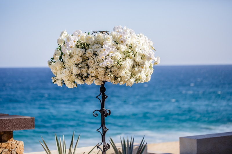 floral arrangements beach weddings mexico florists los cabos elena damy