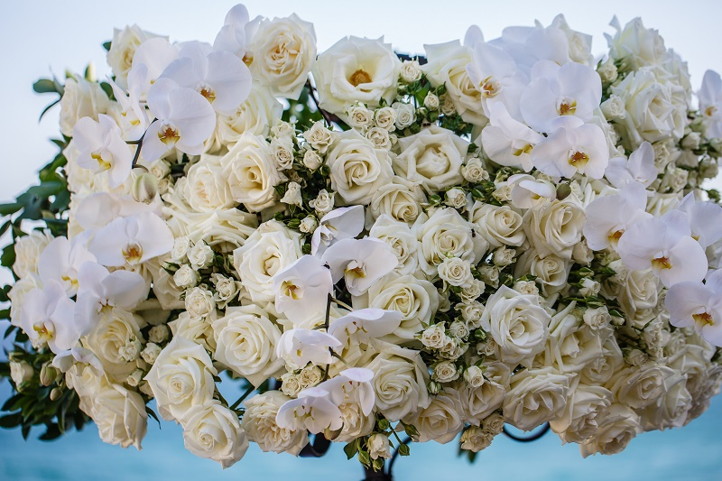 white rose white orchid floral design destination weddings elena damy