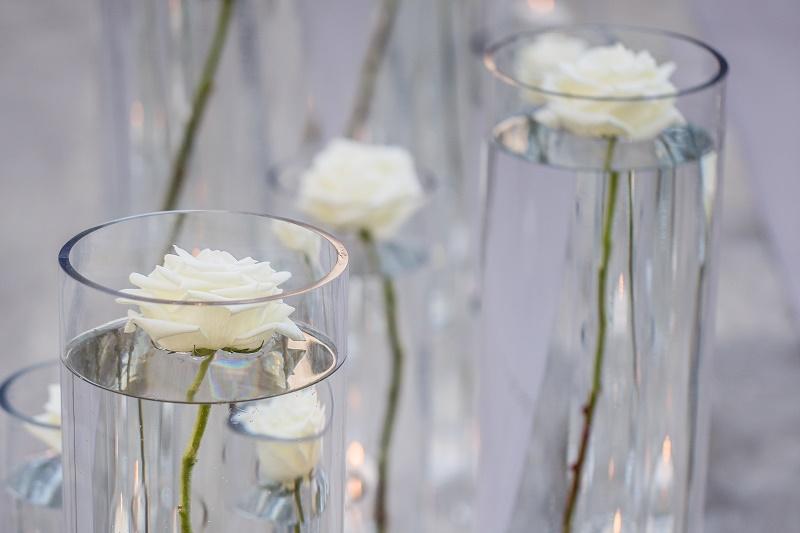 white roses wedding ceremony decor elena damy floral design