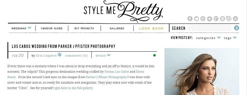 Style Me Pretty February 2014 Elena Damy Floral Design Los Cabos Mexico