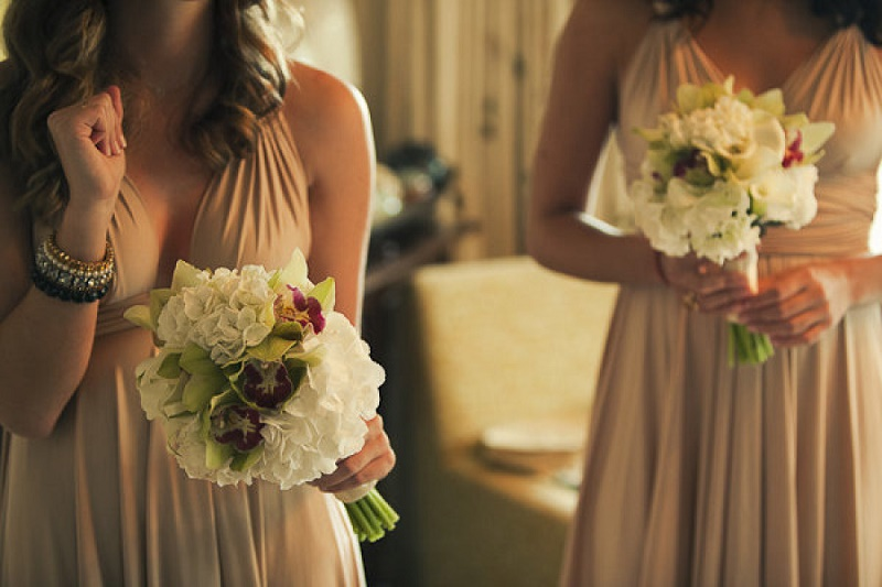 bridesmaids bouquets with orchids elena damy best florists in mexico weddings