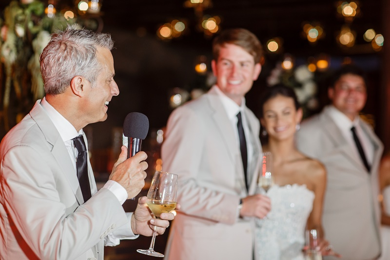fathers toast wedding welcome speech destination weddings mexico elena damy