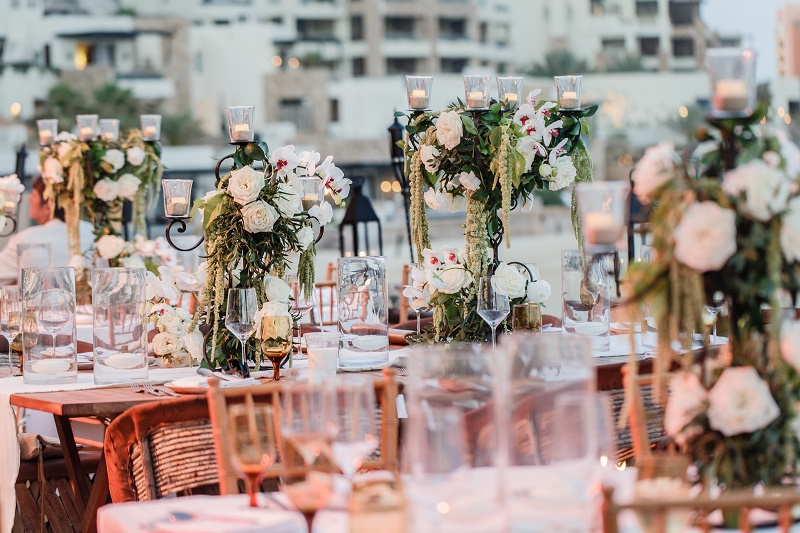 floral centerpieces for beach weddings mexico elena damy los cabos