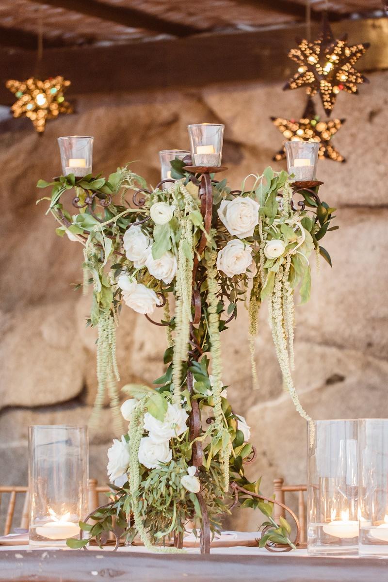 Elena Damy Iron Centerpieces With White Roses Mexico Weddings