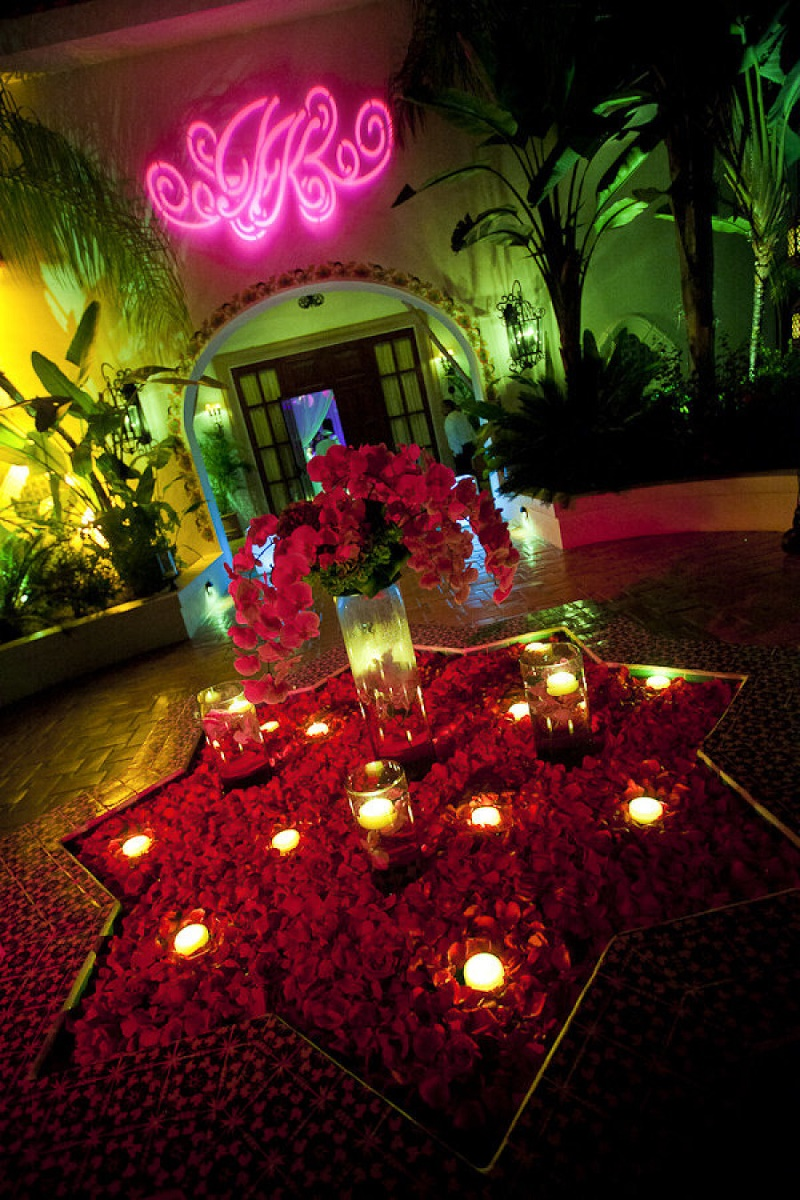 one and only palmilla weddings after hours party decor flowers in fountains elena damy