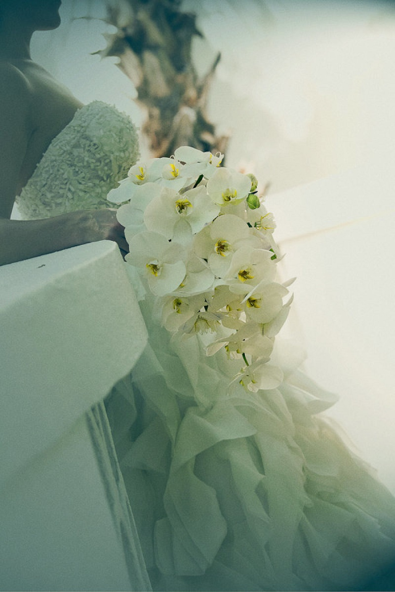 white orchid bridal bouquet elena damy destination weddings