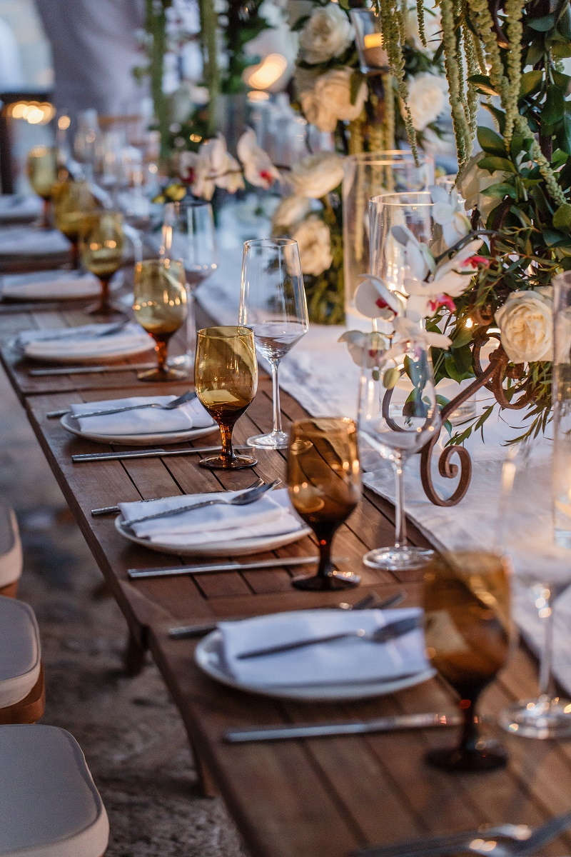 wooden tables outdoor weddings mexico capella cabo wedding planners elena damy floral