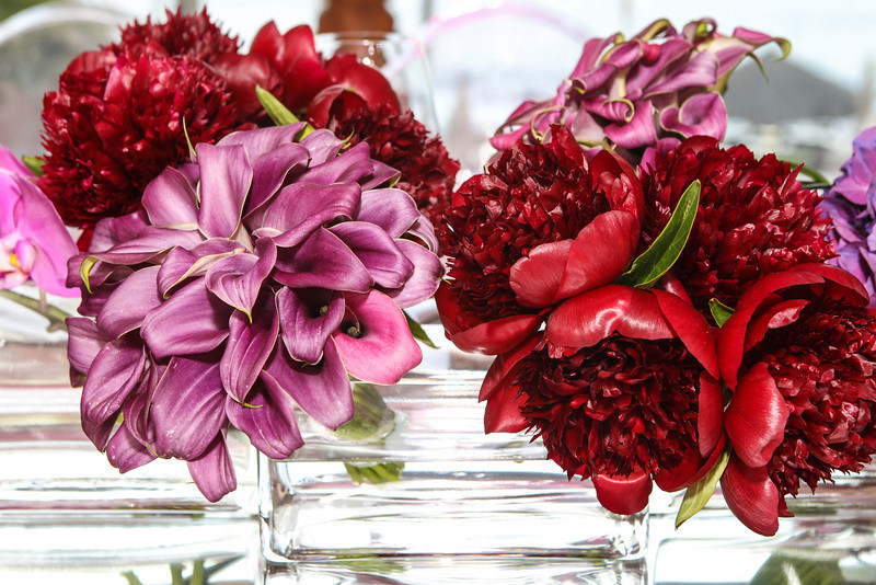 red peonies purple calla lilies elena damy floral design mexico florists for events