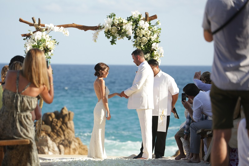Beach Wedding Ceremonies One & Only Palmilla Elena Damy Floral Design